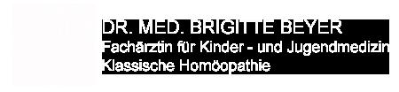 Dr. Brigitte Beyer - Fachärztin für Kindermedizin und Jugendmedizin - Klassische Homöopathie - Kinderarzt - Kinderärztin - Hamburg Marienthal Wandsbek</p>